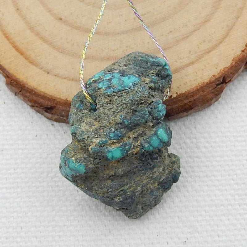 56cts Nugget Turquoise Pendant ,Handmade Gemstone ,Turquoise Bead ,Lucky St