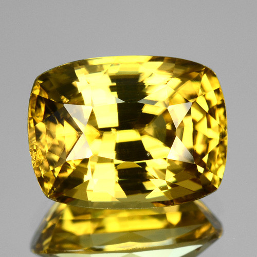 3.75 Cts Natural Yellow Zircon Cushion Radiant Cut Tanzania