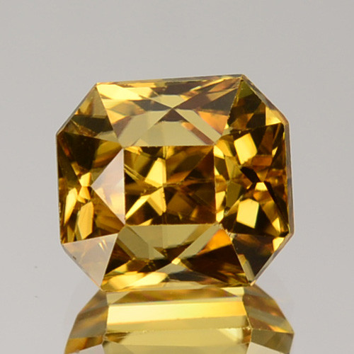 3.90 Cts Natural Yellow Zircon Octagon Radiant Cut Tanzania