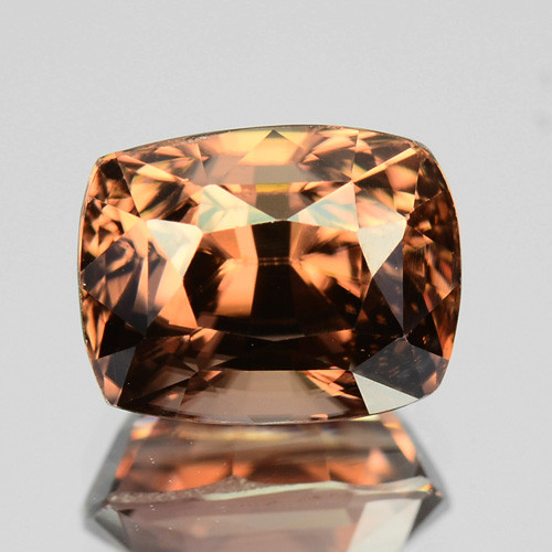 3.05 Cts Natural Brown Zircon Cushion Cut Tanzania