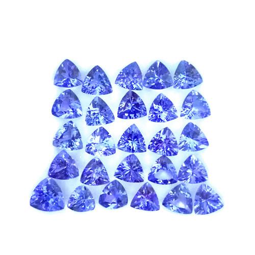 11.45 Cts Natural Purple Blue Tanzanite 5mm Trillion 26Pcs Tanzania