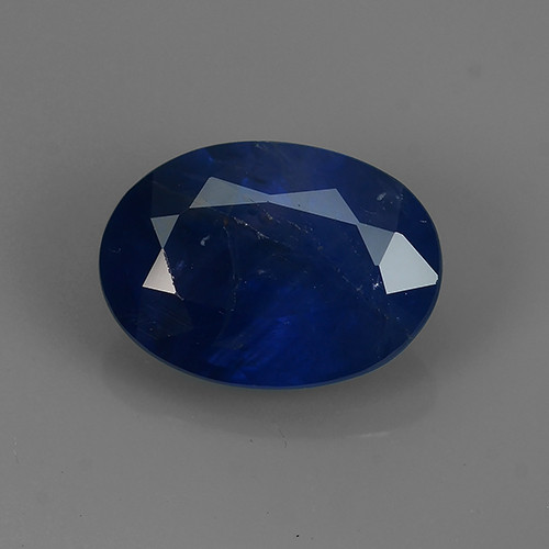 1.40 Cts Natural Intense Beautiful Blue Sapphire Oval Shape From MADAGASCAR