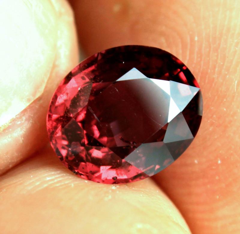 3.76 Carat African Raspberry SI Rhodolite Garnet - Gorgeous