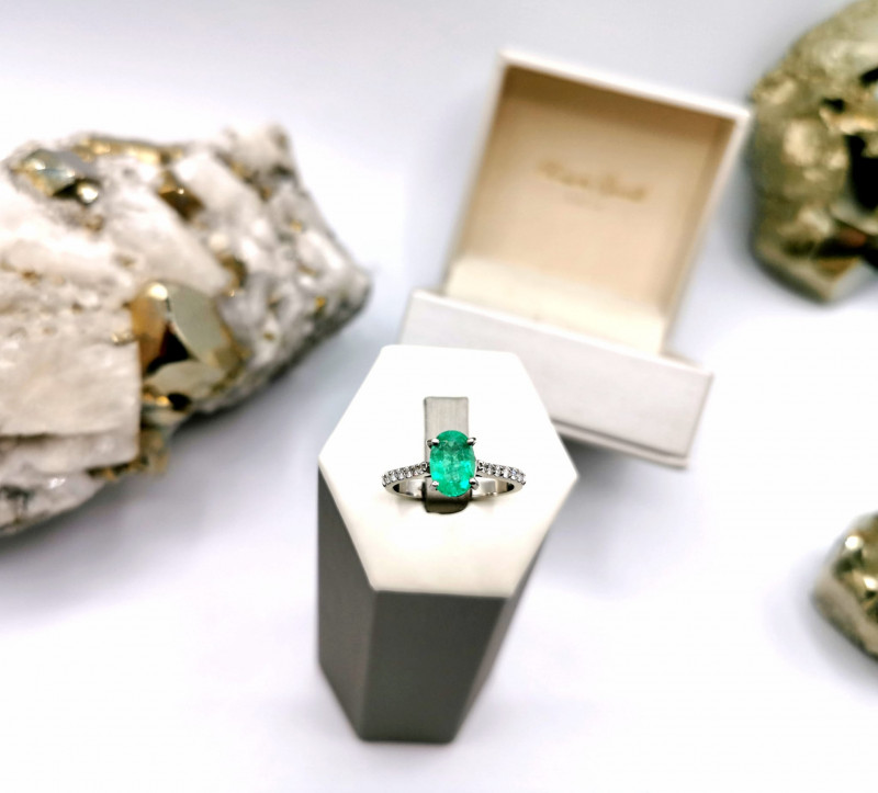 1,44ct Colombian Emerald 18k Solid Gold Ring Colombian Emerald Colombian Em