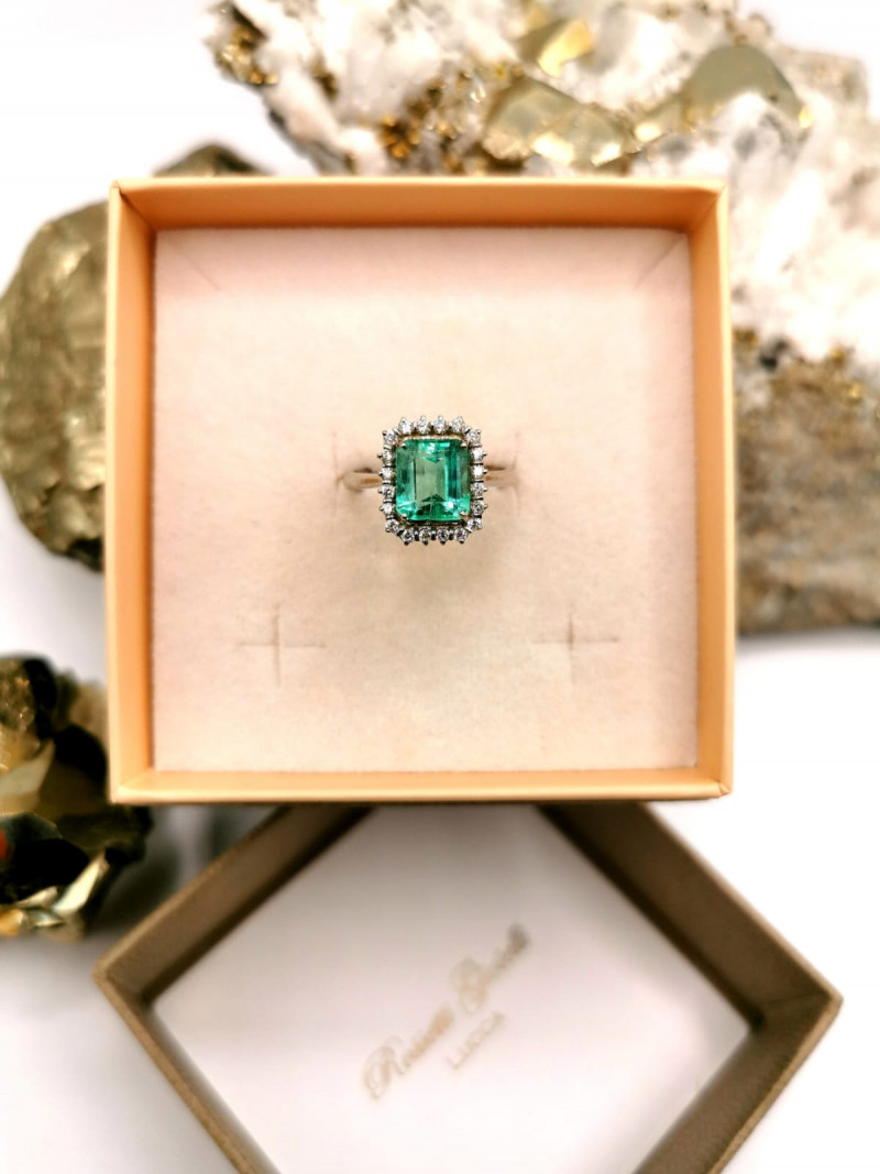 2,43ct Colombian Emerald 18k Solid Gold Ring Colombian Emerald Colombian Em
