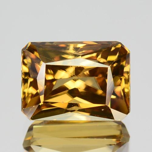 3.04 Cts Natural Yellow Zircon Octagon Cut Tanzania