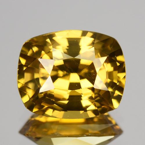 2.56 Cts Natural Yellow Zircon Cushion Cut Tanzania