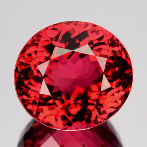 25.82 Cts Fantastic Natural Red Tourmaline Oval Mozambique Gem