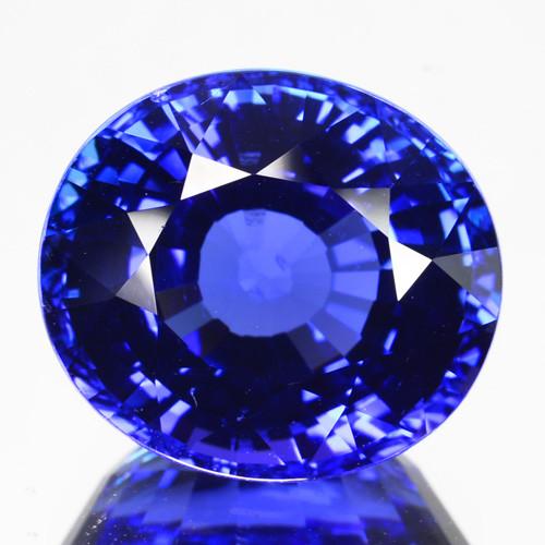 ~FANTASTIC~ 12.42 Cts Natural AAA+ Blue Tanzanite Oval Cut Tanzania