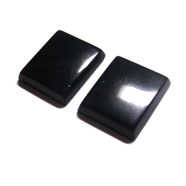 6.63tcw Onyx Matching Rectangular Buff Tops