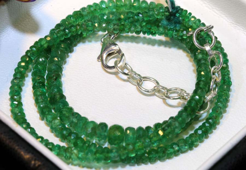 48.45-16 INCH- CTS EMERALD BEADS STRAND PG-2591