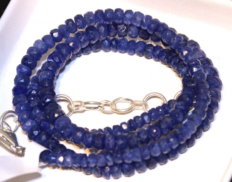 80.45 CTS -SAPPHIRE BEADS STRAND  PG-2613