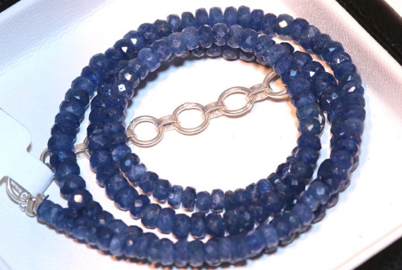 78.9 CTS -SAPPHIRE BEADS STRAND  PG-2614