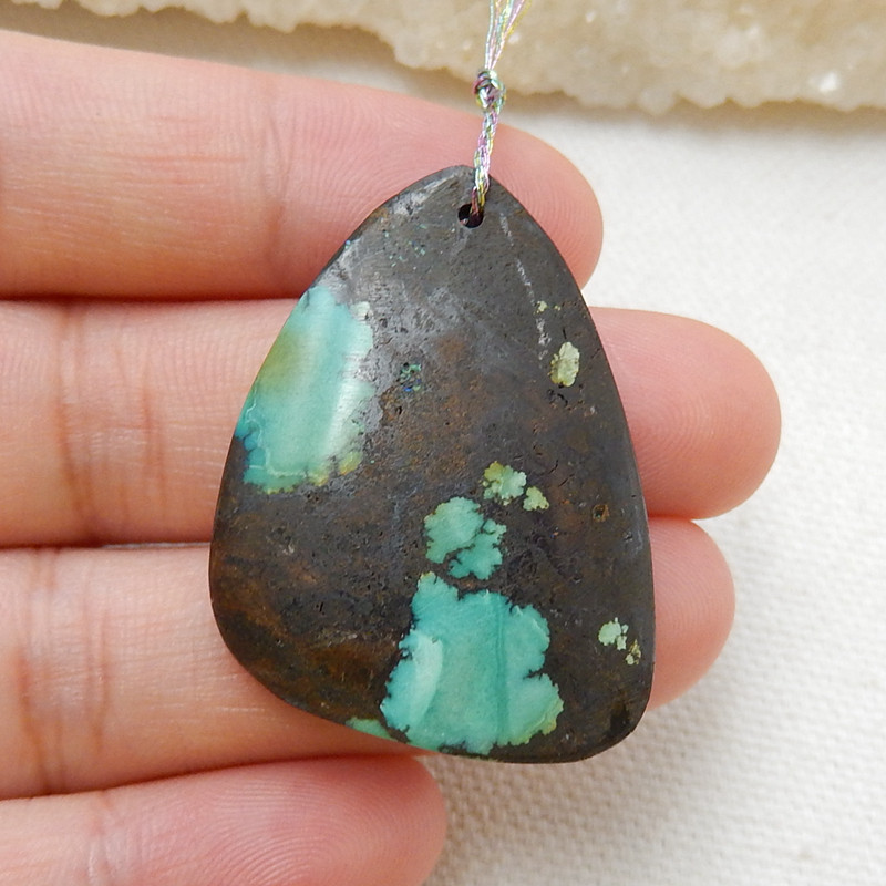 Nugget gemstone Turquoise Pendant, Best Jewelry Handmade DIY Jewelry Making