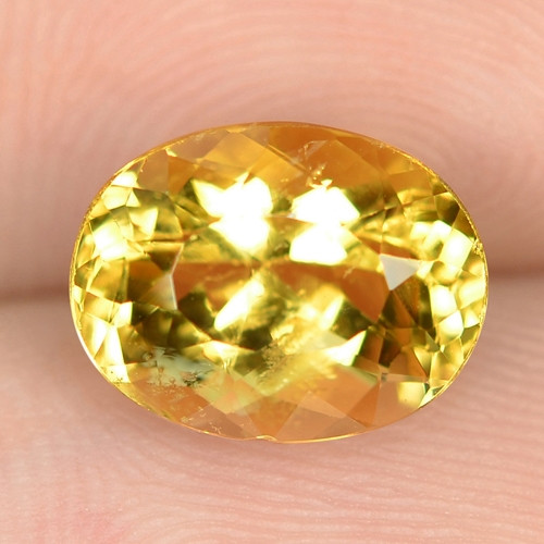 2.24 CTS NATURAL AMAZING RARE GOLDEN YELLOW BERYL LOOSE GEMSTONE