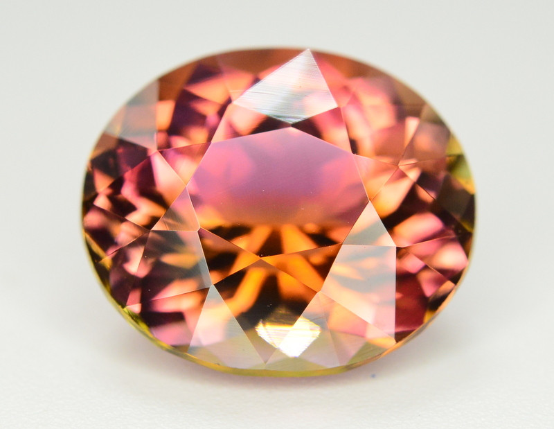 Incredible Color 6.25 Ct Bi Color Watermelon Tourmaline From Afghanistan