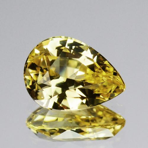 ~UNHEATED~ 1.44 Cts Natural Nice Yellow SapphirePear Cut Sri Lanka Gem