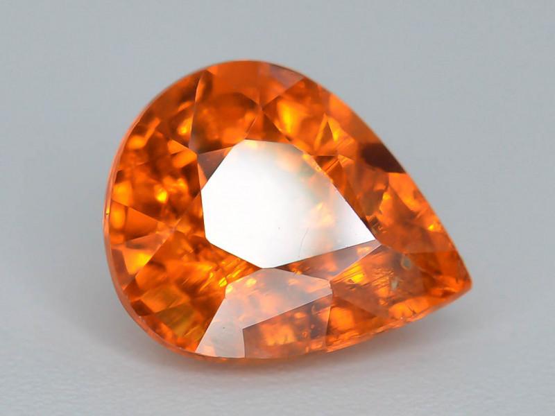 1.85 ct Natural Fanta Orange Color  Pear Shape  Spessartite Garnet~ AD