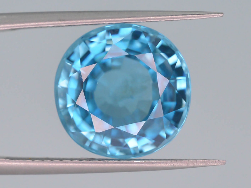 11.30 ct Natural Blue Zircon From Cambodia ~AD