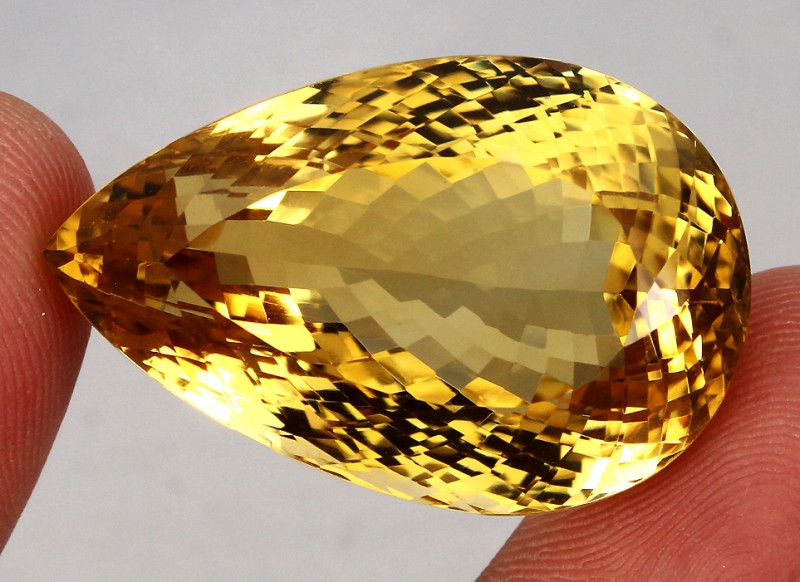 125.47  ct. 100%  Natural Top Yellow Golden Citrine Unheated -IGE Certifica