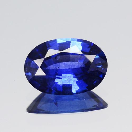 0.61 Cts Natural Corundum Sapphire Nice Blue Oval Cut SriLanka Gem (Video A