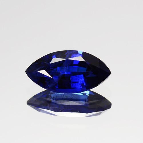 0.47 Cts Natural Corundum Sapphire Nice Blue SriLanka Gem (Video Avl)
