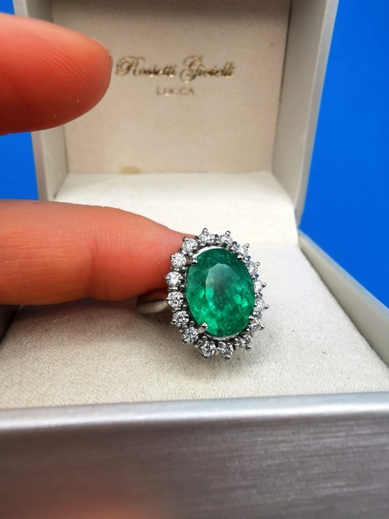 5,22ct Colombian Emerald Solid Gold Ring  Colombian Emeralds Colombian Emer