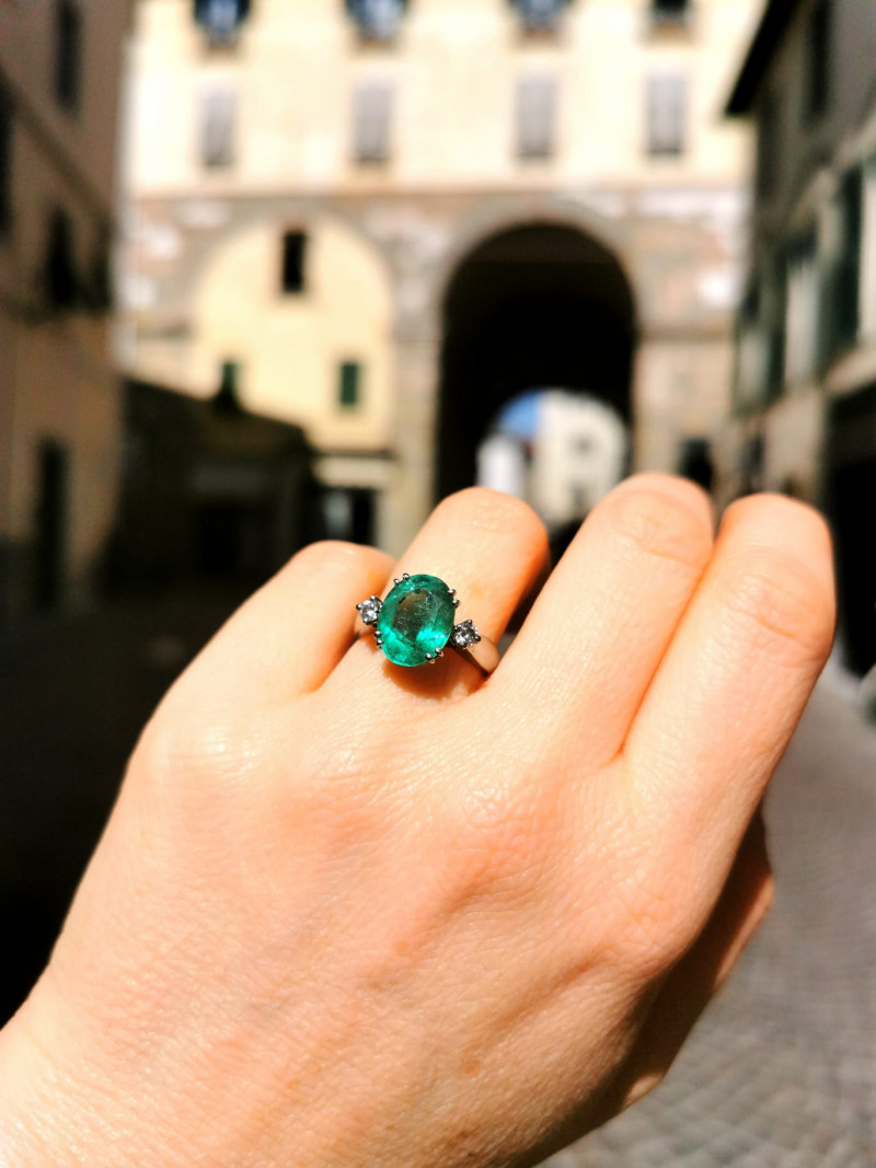 3,62ct Colombian Emerald 18k Solid Gold Ring Colombian Emeralds Colombian E
