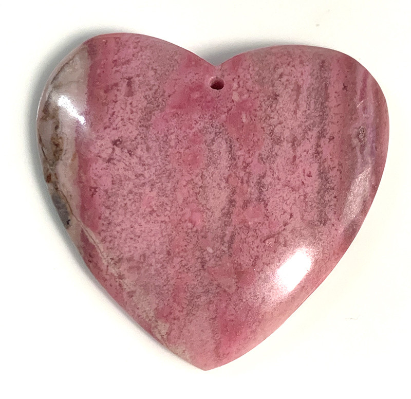 Divinely lovely smooth polish 130.50ct Rhodonite Heart Piece