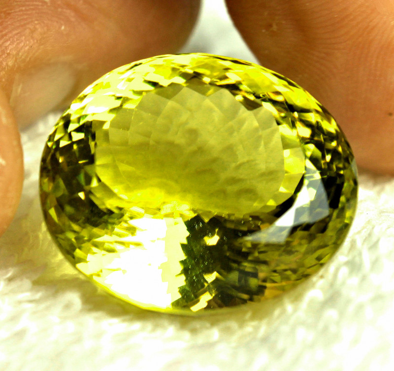 59.09 Carat Vibrant Yellow Lemon Quartz - Gorgeous