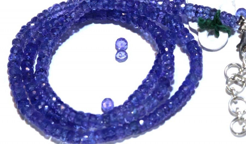76.75-CTS TANZANITE FACETED  BEADS STRAND PG-2616