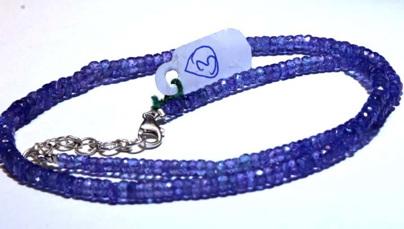 99.10-CTS TANZANITE FACETED  BEADS STRAND PG-2618