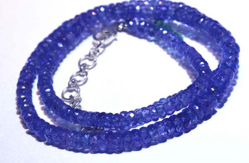 97.25-CTS TANZANITE FACETED  BEADS STRAND PG-2619