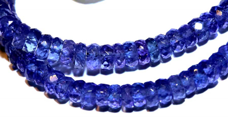 41.50-CTS TANZANITE FACETED  BEADS STRAND PG-2620