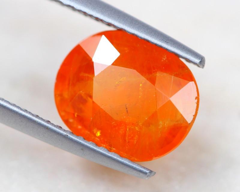 3.43Ct Orange Sapphire Oval Cut Lot LZB519