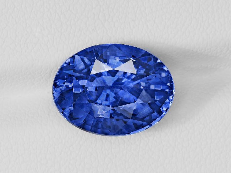 Blue Sapphire, 10.78ct - Mined in Sri Lanka   Certified by GRS