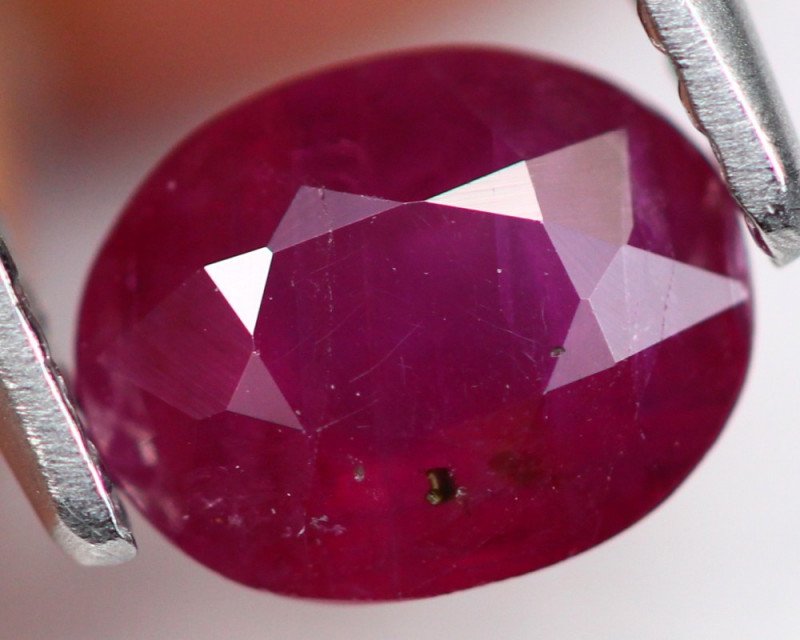 Red Ruby 0.96Ct Natural Vivid Burmese Red Color A111