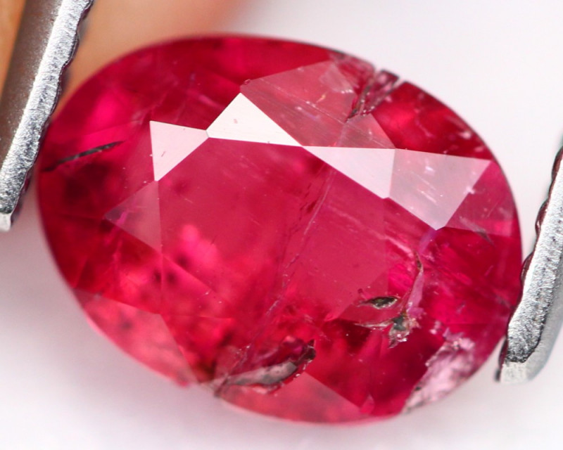 Rubellite 1.30Ct Natural Vivid Red Color Tourmaline A131