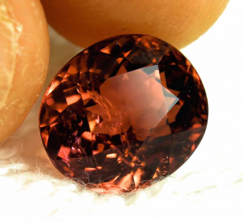 7.30 Carat Fancy Orange Tourmaline - Gorgeous