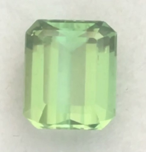 Pretty Mint Green Emerald Cut Tourmaline - Afghanistan Ref 2234