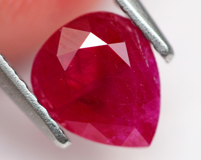 Ruby 1.35Ct Natural Burmese Red Ruby A1605