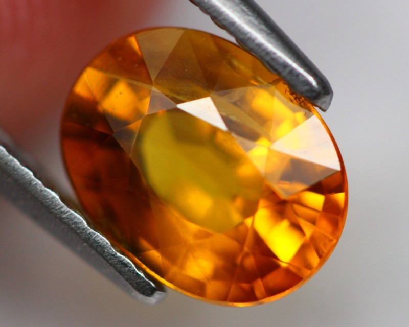 Sapphire 1.71Ct Natural Orange Sapphire A1609