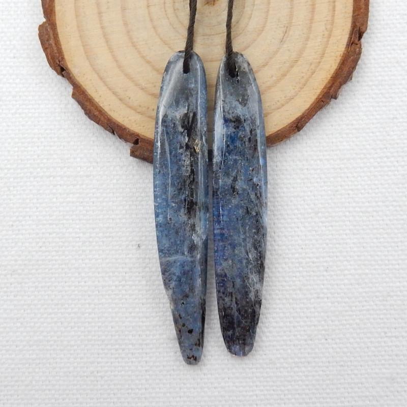 77.5cts 2pcs Blue kyanite necklace ,natural kyanite pendants ,healing stone