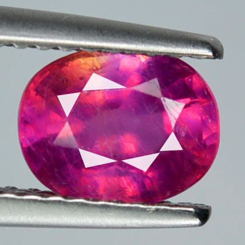 1.77 Cts Pigeon Pinkish Red Ruby Composite Oval Cut Mozambique
