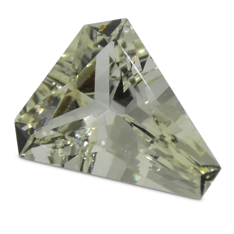0.73ct Yellow Sapphire Cut Corner Trillion