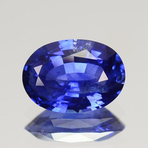 0.89 Cts Natural Corundum Sapphire Nice Blue Oval Cut SriLanka Gem (Video A