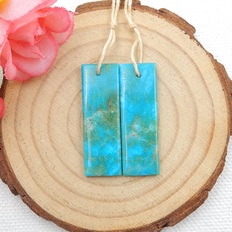 19cts Handmade Earrings ,Gemstone Earrings ,Natural Amazonite Earrings D453
