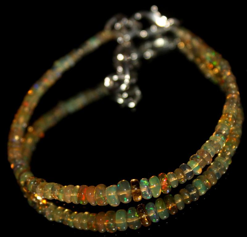 11 Crts Natural Ethiopian Welo Opal Beads Bracelet 602