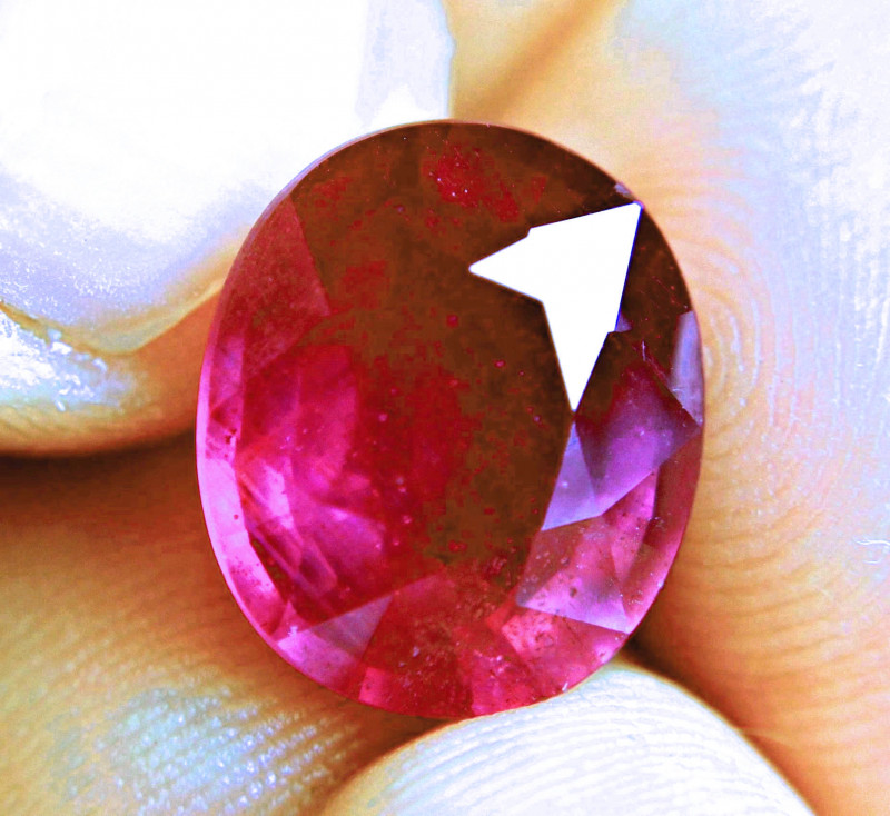11.05 Carat Fiery Red Ruby - Superb