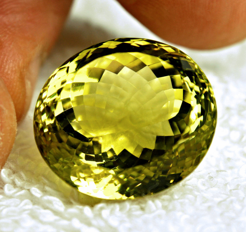 44.12 Carat Vibrant Yellow African Lemon Quartz - Gorgeous